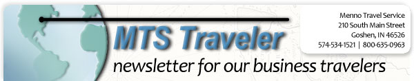 MTS Traveler Newsletter Masthead
